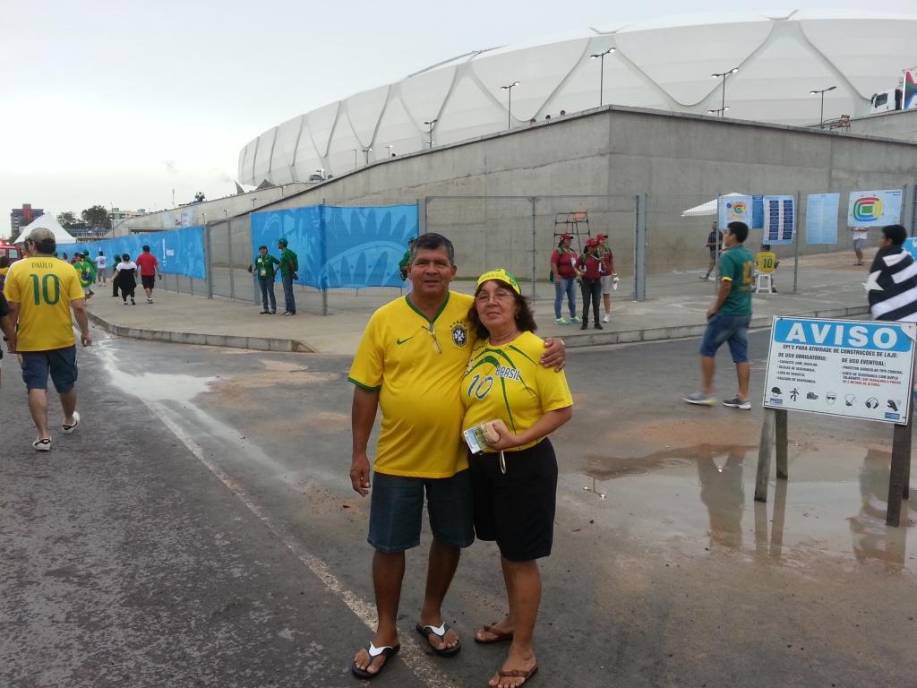 Chegando na Arena Amazônia