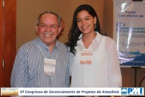 Fundador e apoiador do PMI AM Ulisses Tapajós e Membro do PMI AM Anne Bandeira - No Congresso.