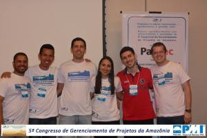 Daniel, Renato, Vitor, Ana Carolina, Tiago, Érico. Diretoria PMI AM.